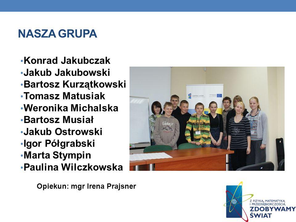 Nasza grupa Konrad Jakubczak Jakub Jakubowski Bartosz Kurzątkowski