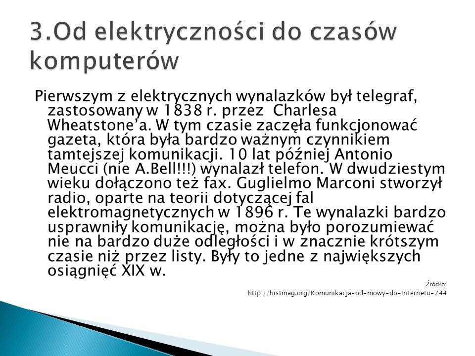 3.Od elektryczności do czasów komputerów