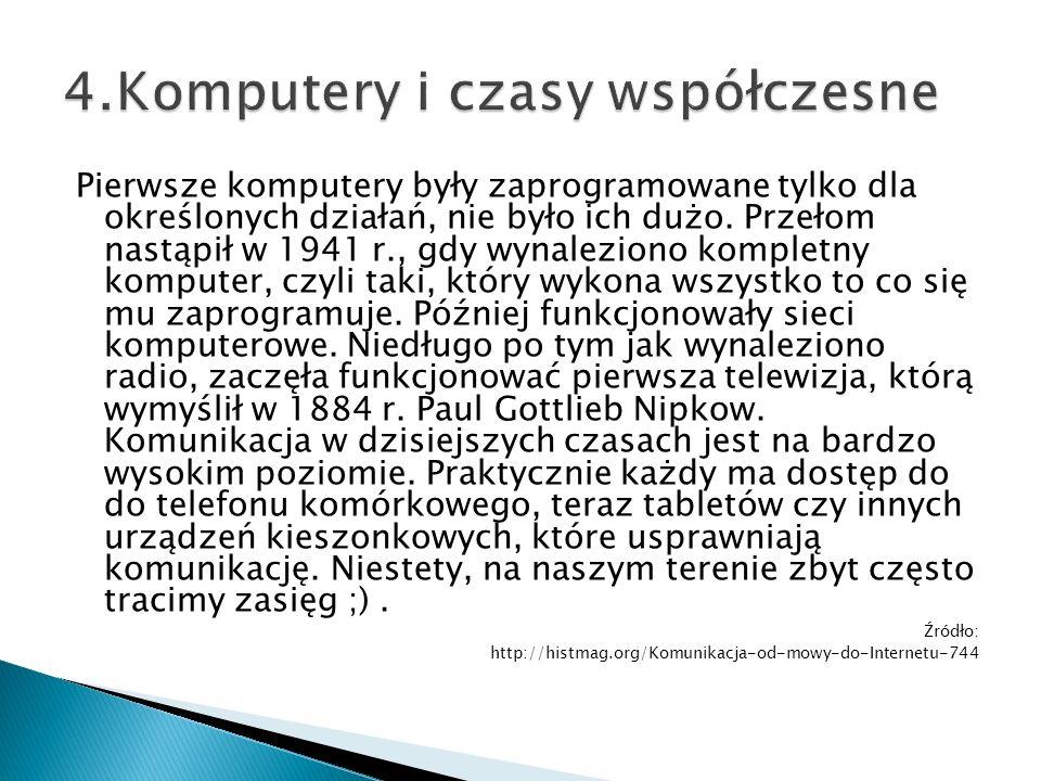 4.Komputery i czasy współczesne