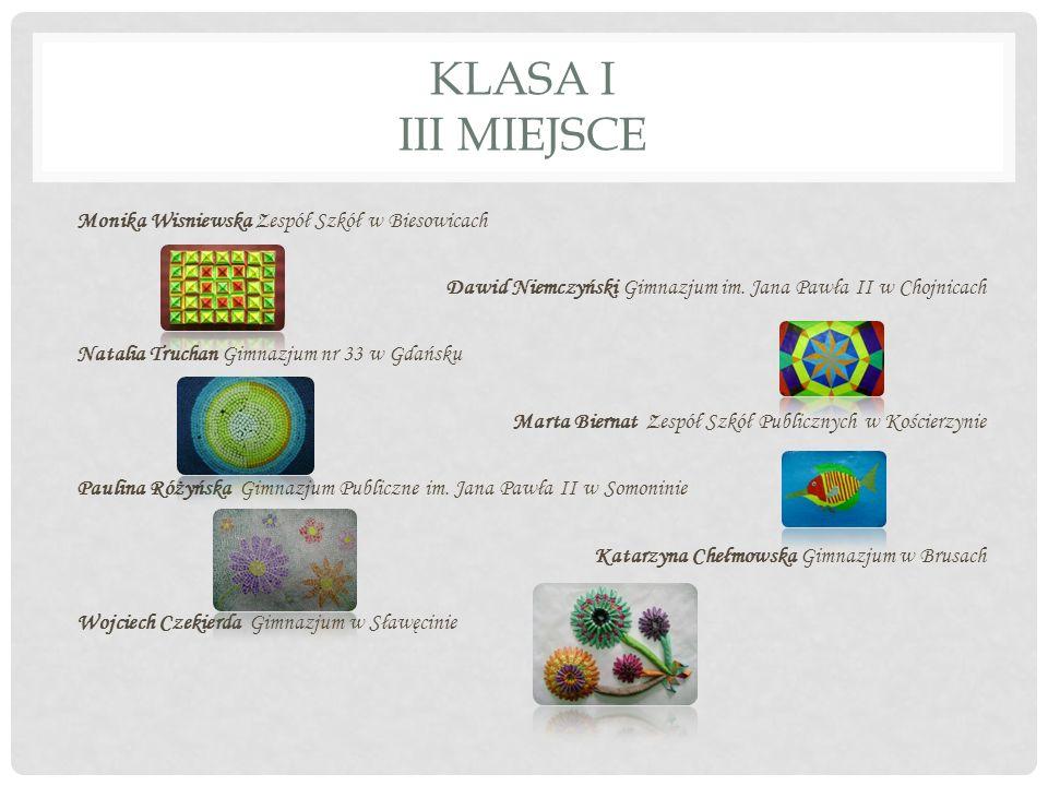 KLASA I III MIEJSCE