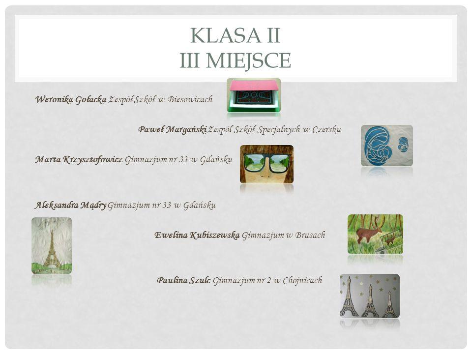 KLASA II III MIEJSCE