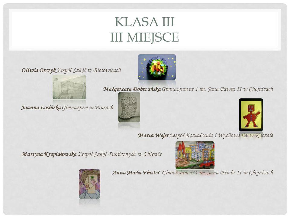 KLASA III III MIEJSCE