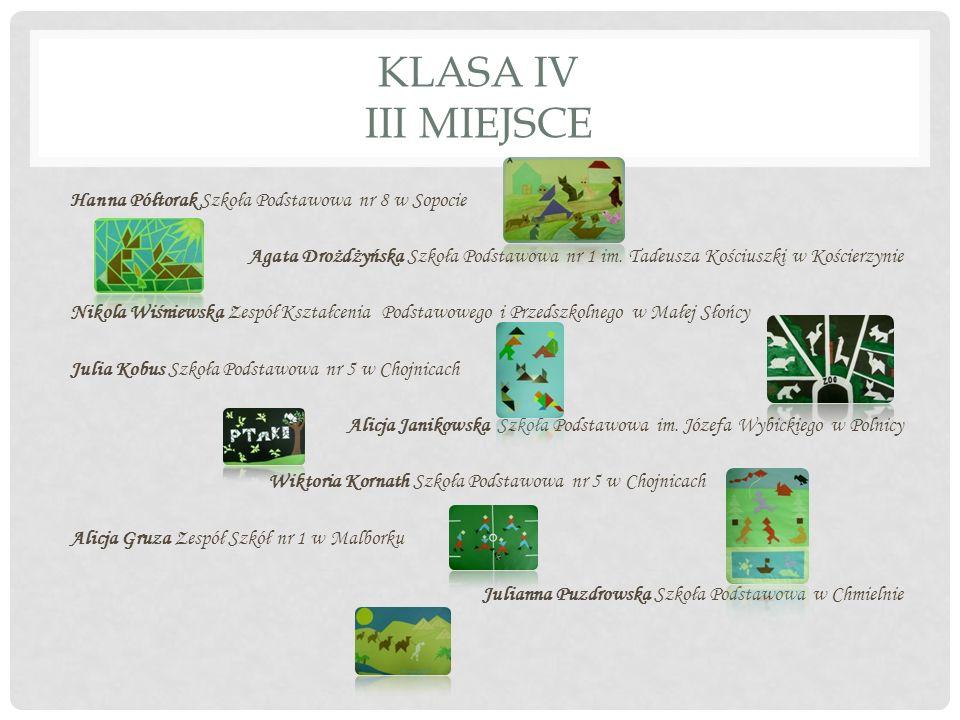KLASA IV III MIEJSCE