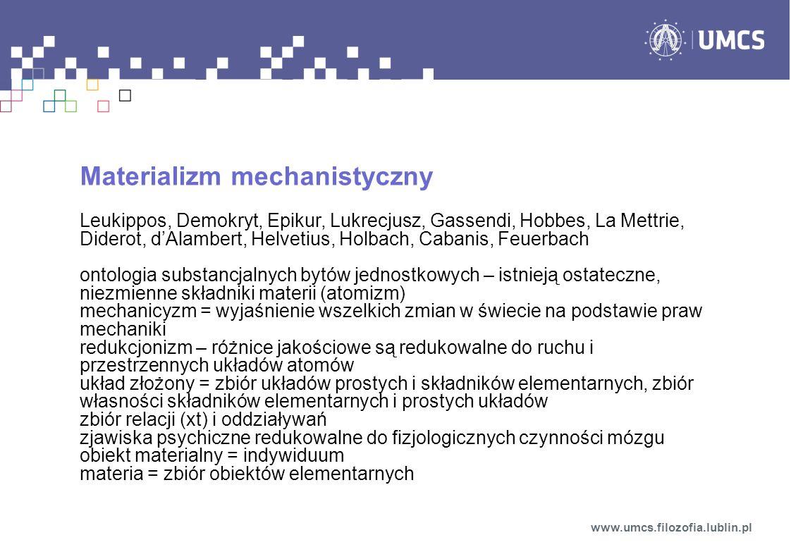 Materializm mechanistyczny