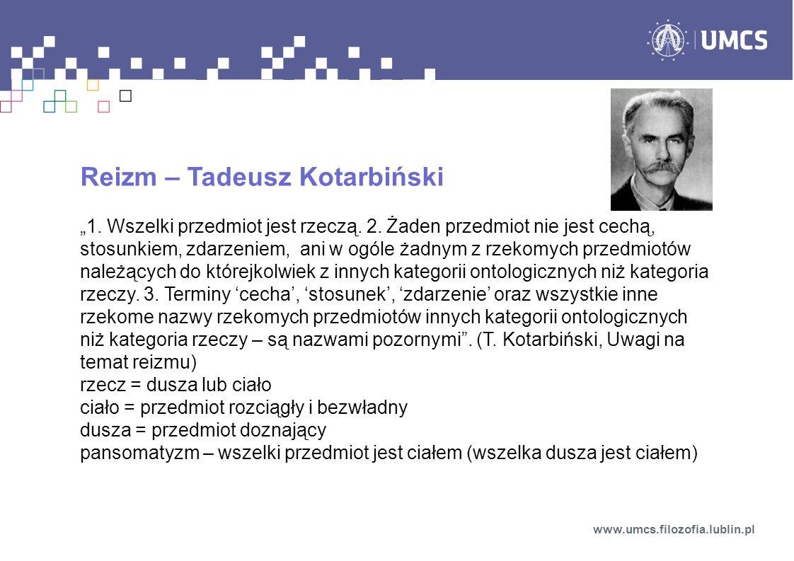 Reizm – Tadeusz Kotarbiński