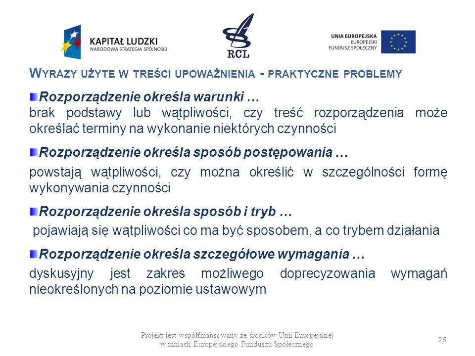 Wyrazy użyte w treści upoważnienia - praktyczne problemy
