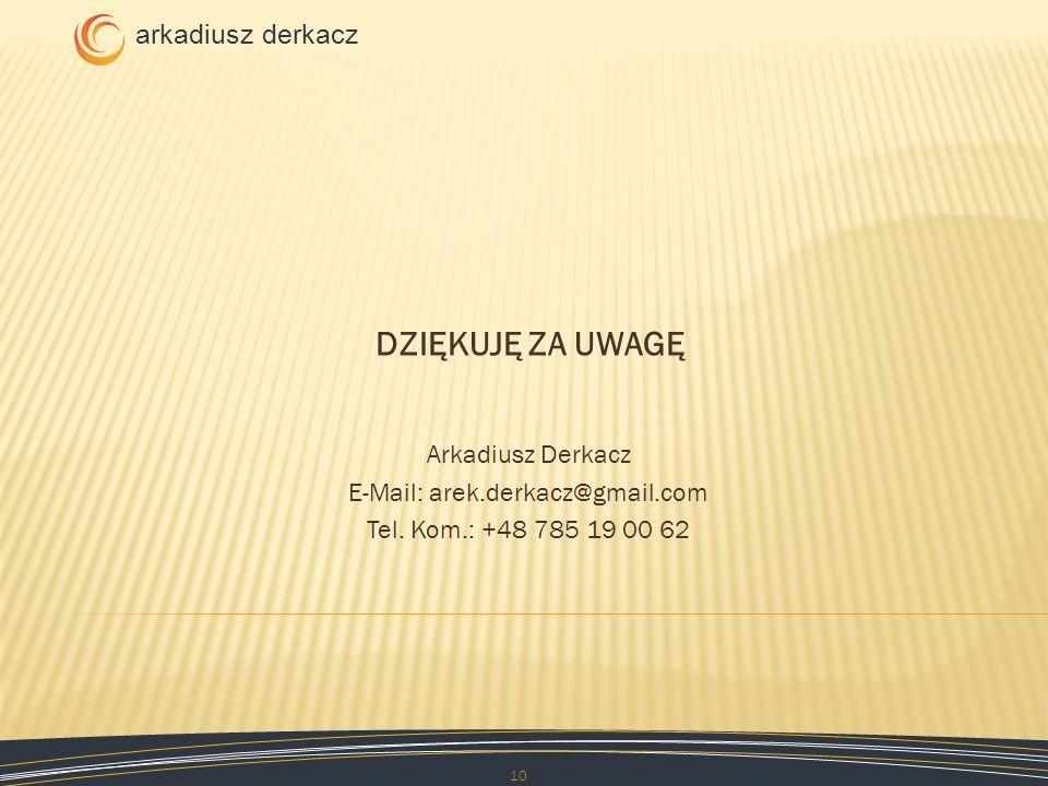E-Mail: arek.derkacz@gmail.com