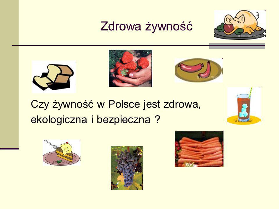 Zdrowa żywność Czy żywność w Polsce jest zdrowa,
