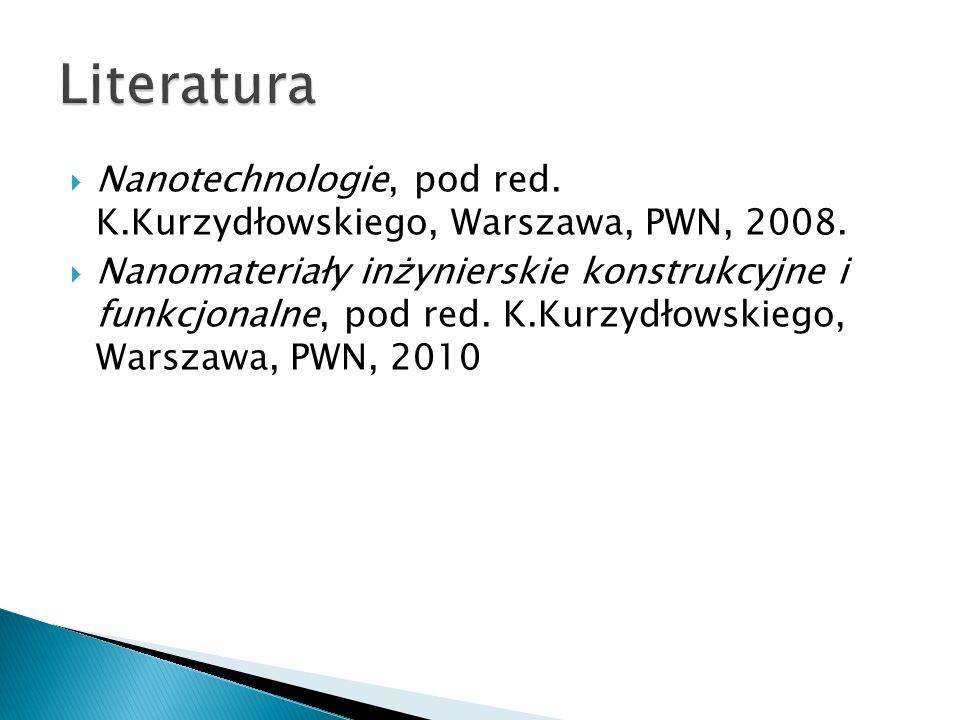 Literatura Nanotechnologie, pod red. K.Kurzydłowskiego, Warszawa, PWN, 2008.