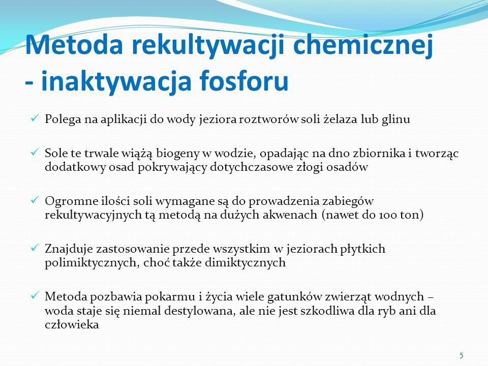 Metoda rekultywacji chemicznej - inaktywacja fosforu