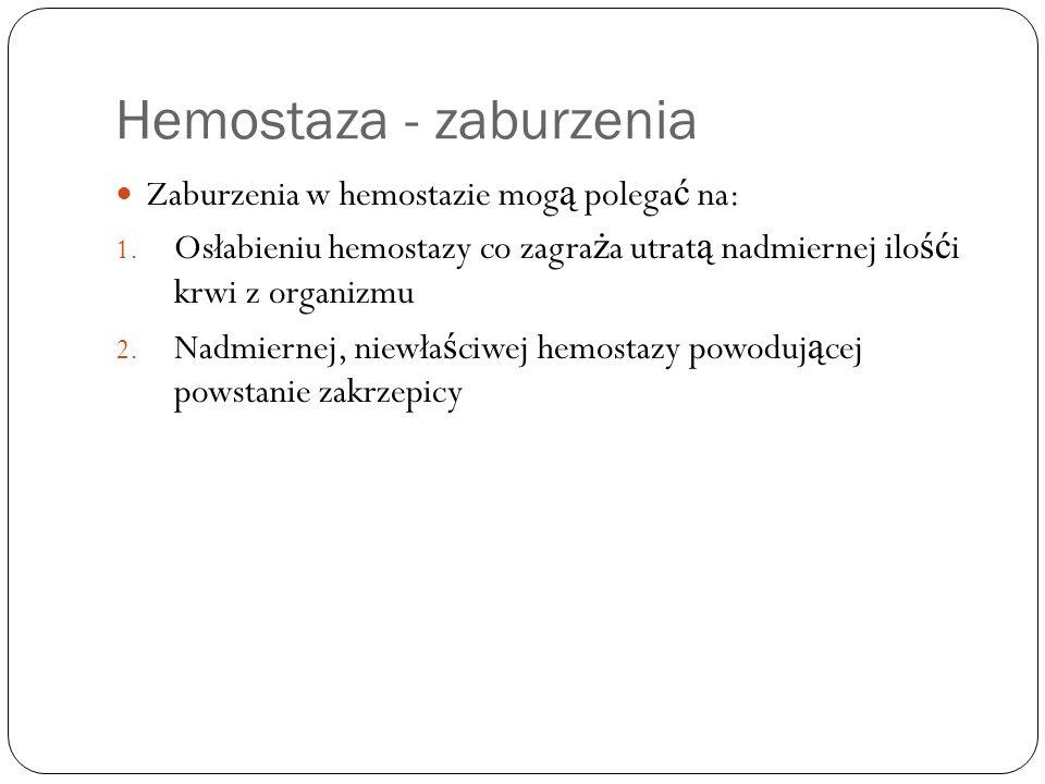 Hemostaza - zaburzenia