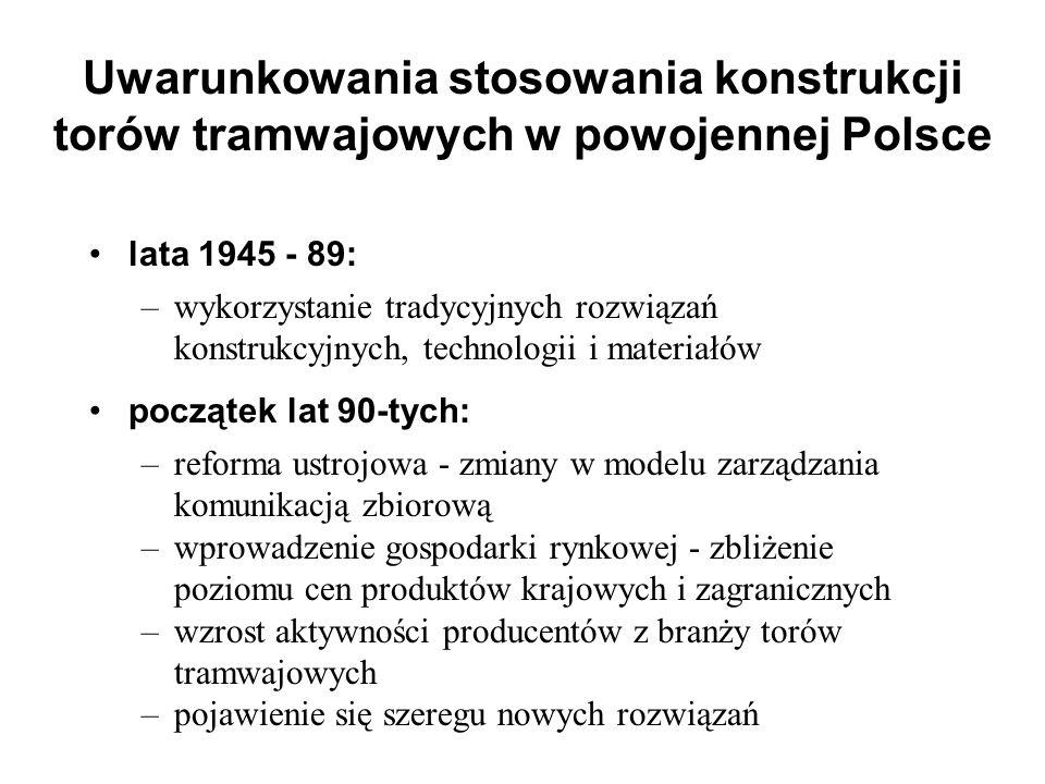 Uwarunkowania stosowania konstrukcji torów tramwajowych w powojennej Polsce