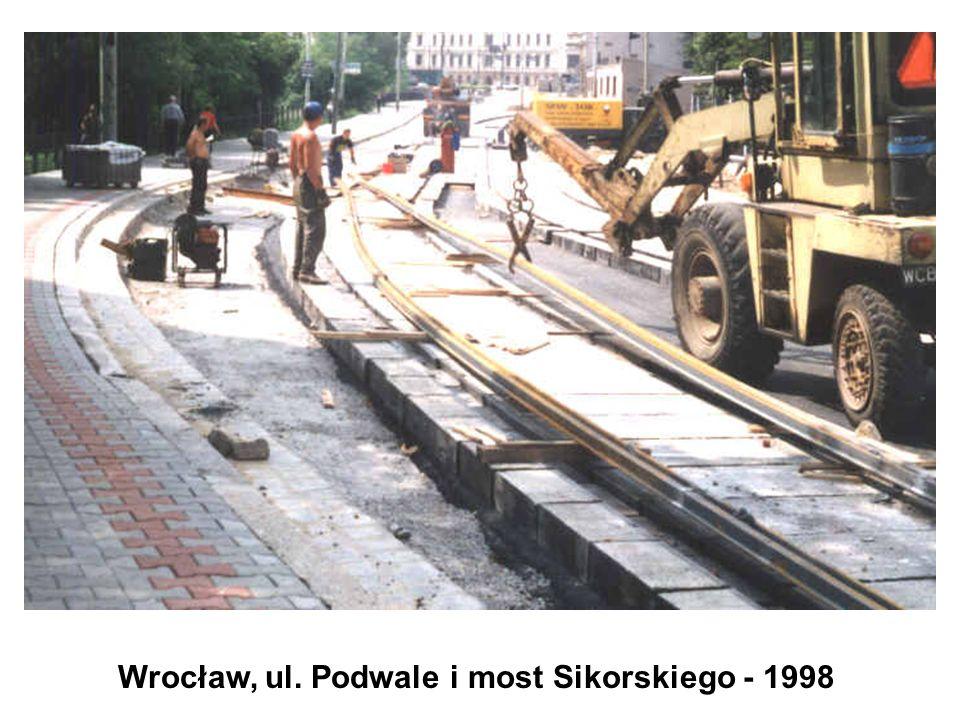 Wrocław, ul. Podwale i most Sikorskiego - 1998