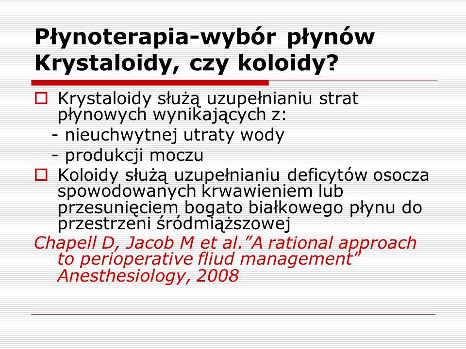 Płynoterapia-wybór płynów Krystaloidy, czy koloidy