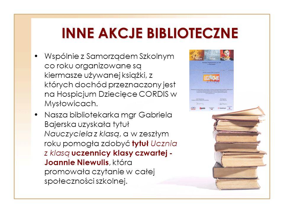 INNE AKCJE BIBLIOTECZNE