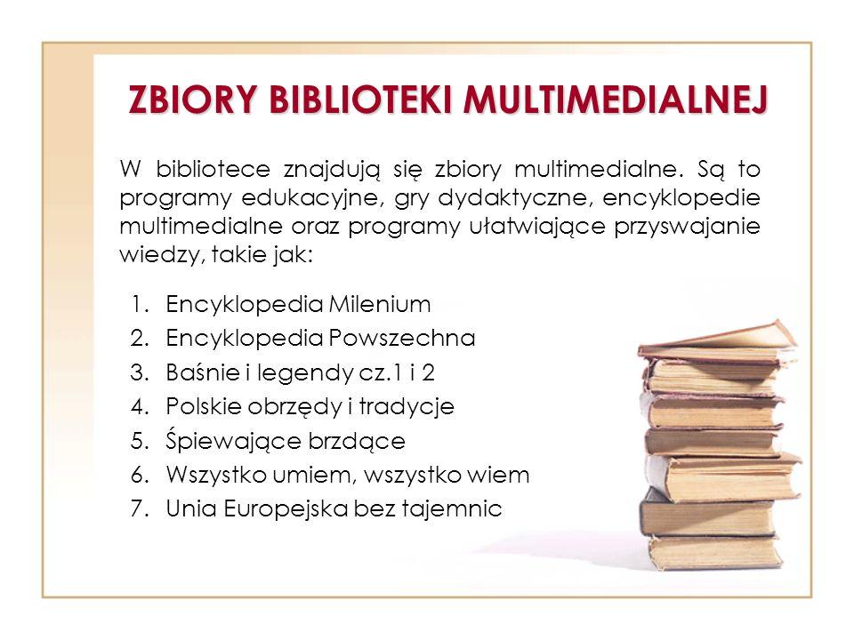 ZBIORY BIBLIOTEKI MULTIMEDIALNEJ