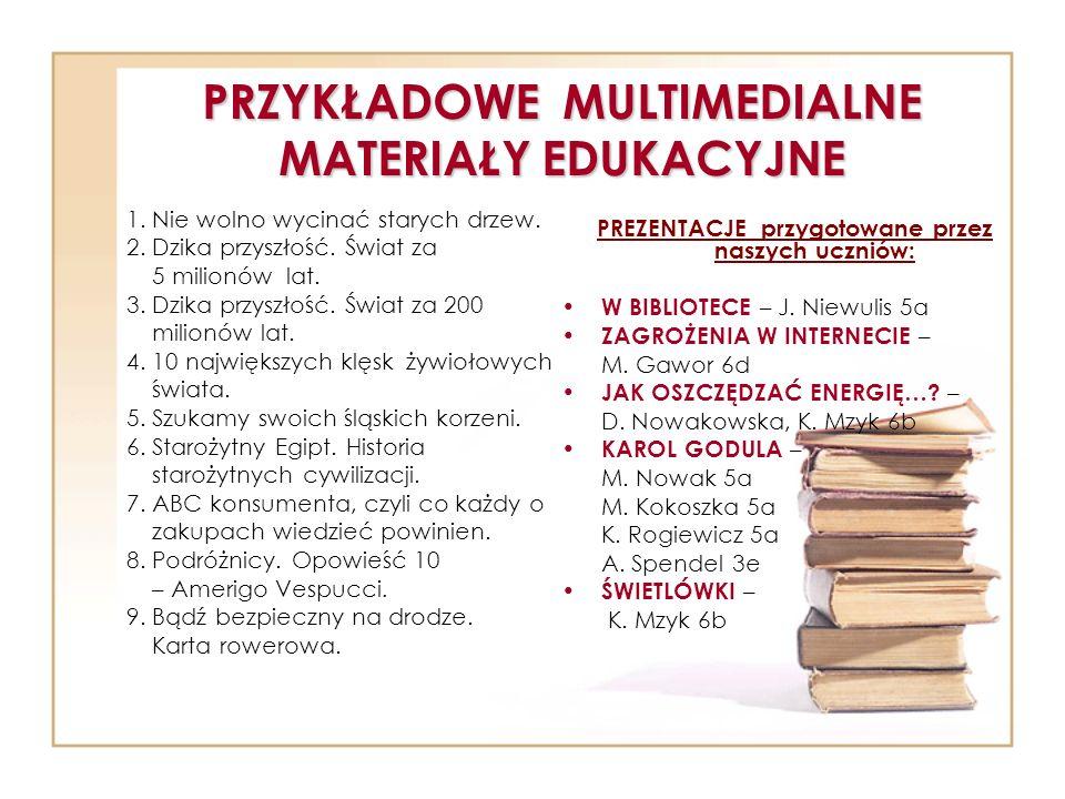 PRZYKŁADOWE MULTIMEDIALNE MATERIAŁY EDUKACYJNE