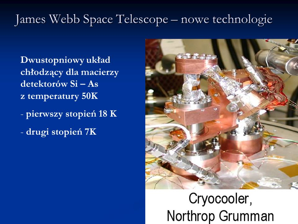 James Webb Space Telescope – nowe technologie