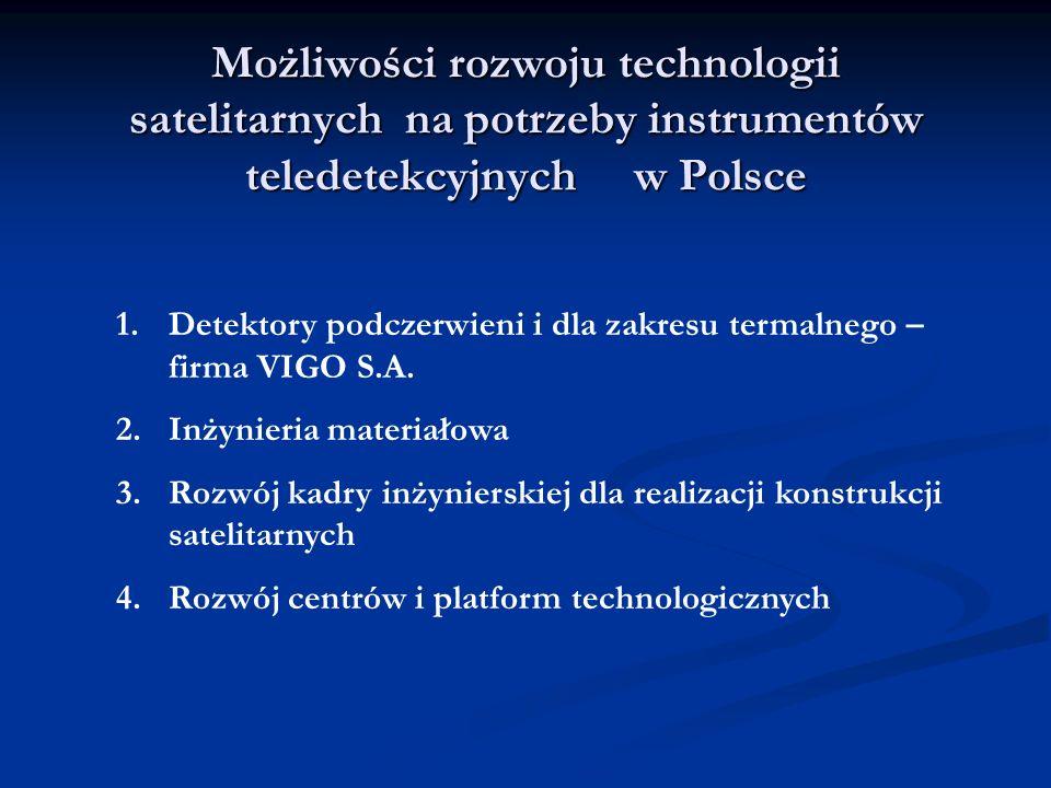 Możliwości rozwoju technologii satelitarnych na potrzeby instrumentów teledetekcyjnych w Polsce