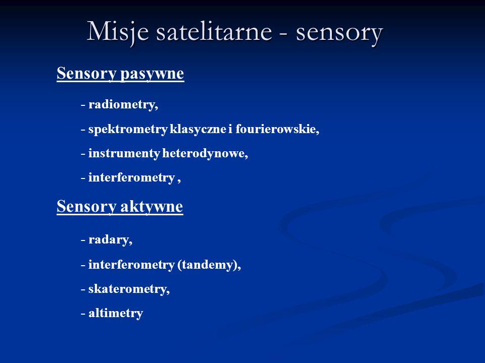 Misje satelitarne - sensory