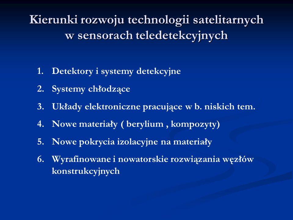 Kierunki rozwoju technologii satelitarnych w sensorach teledetekcyjnych