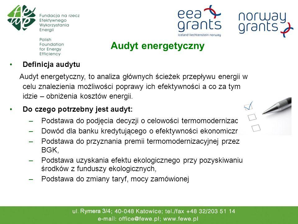 Audyt energetyczny Definicja audytu