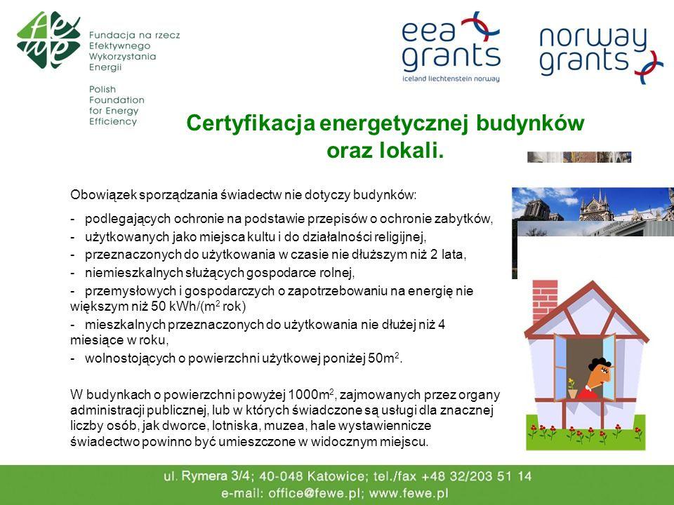 Certyfikacja energetycznej budynków