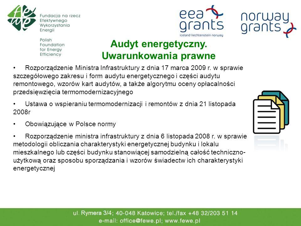 Audyt energetyczny. Uwarunkowania prawne