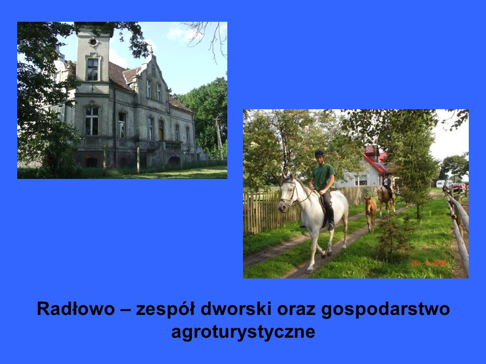 Radłowo – zespół dworski oraz gospodarstwo agroturystyczne