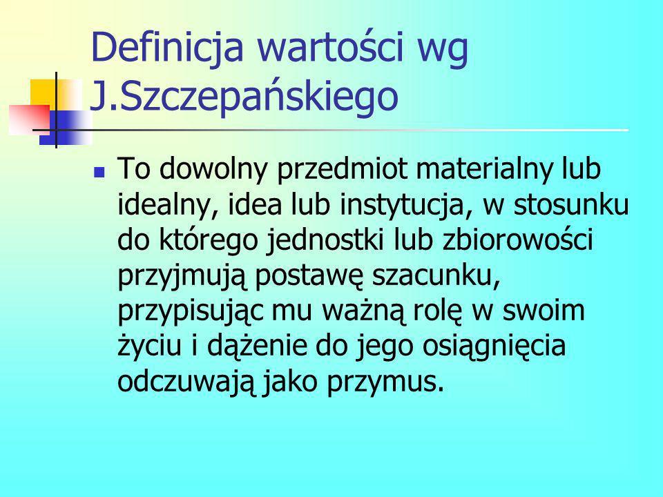 Definicja wartości wg J.Szczepańskiego