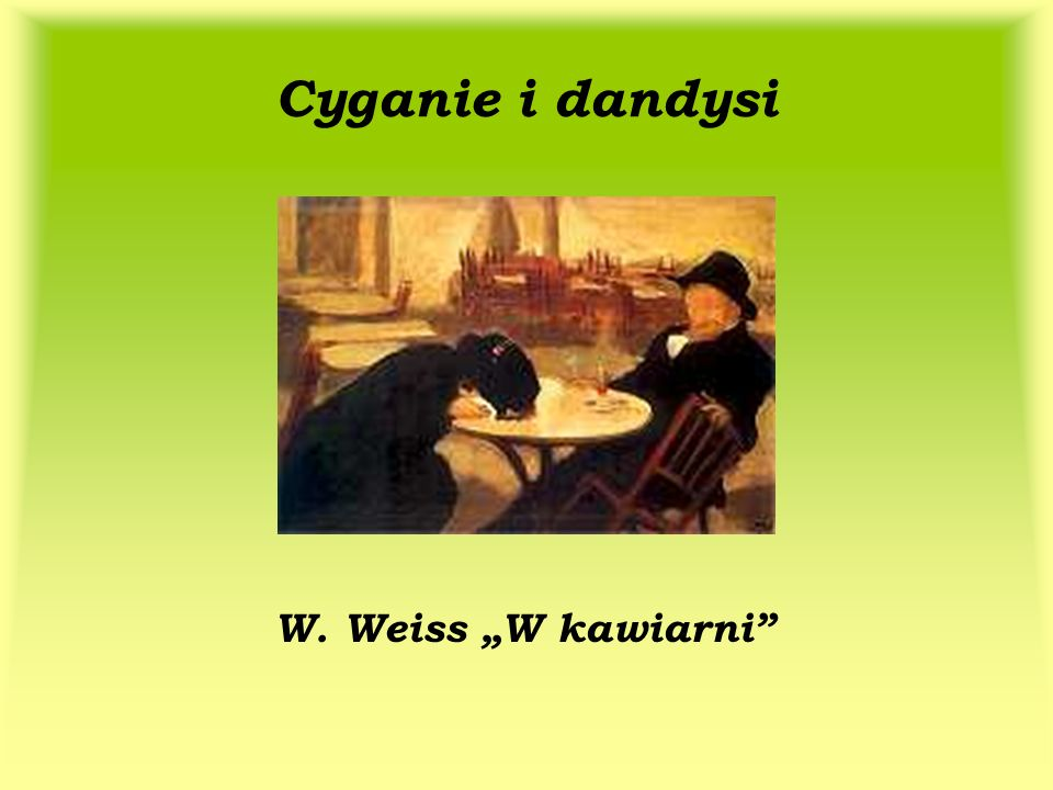 """Cyganie i dandysi W. Weiss """"W kawiarni"""
