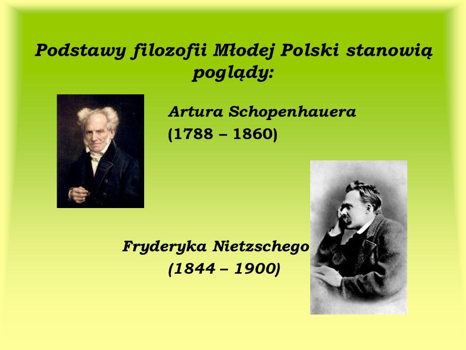 Podstawy filozofii Młodej Polski stanowią poglądy: