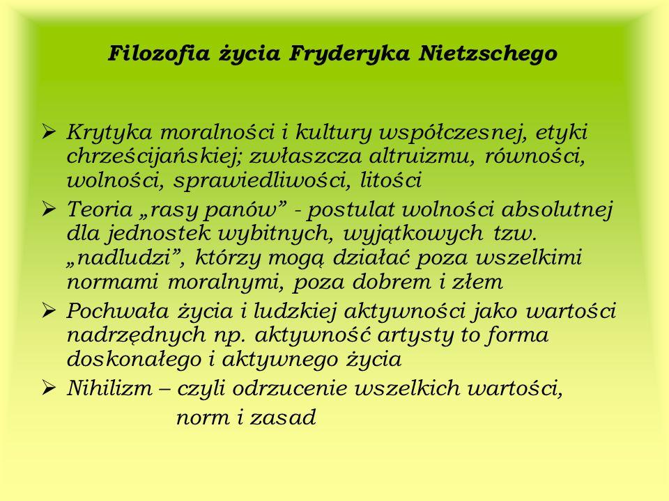 Filozofia życia Fryderyka Nietzschego