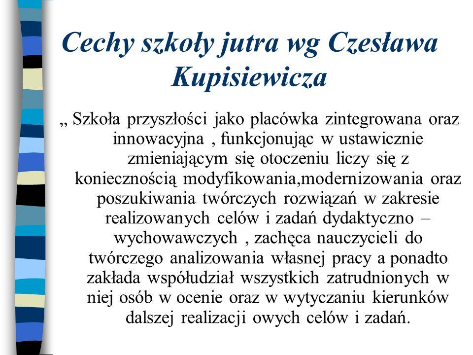 Cechy szkoły jutra wg Czesława Kupisiewicza