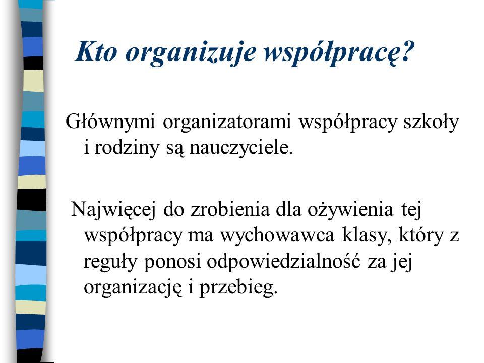 Kto organizuje współpracę