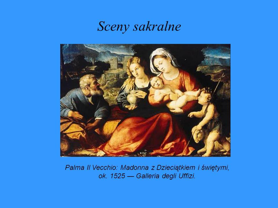 Sceny sakralne Palma Il Vecchio: Madonna z Dzieciątkiem i świętymi, ok.