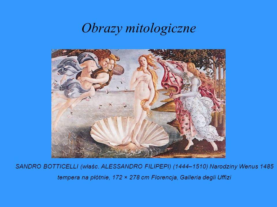tempera na płótnie, 172 × 278 cm Florencja, Galleria degli Uffizi