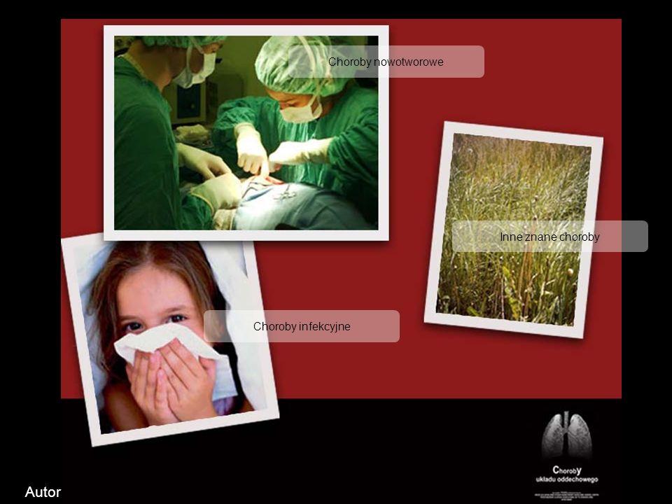 Autor Choroby nowotworowe Inne znane choroby Choroby infekcyjne