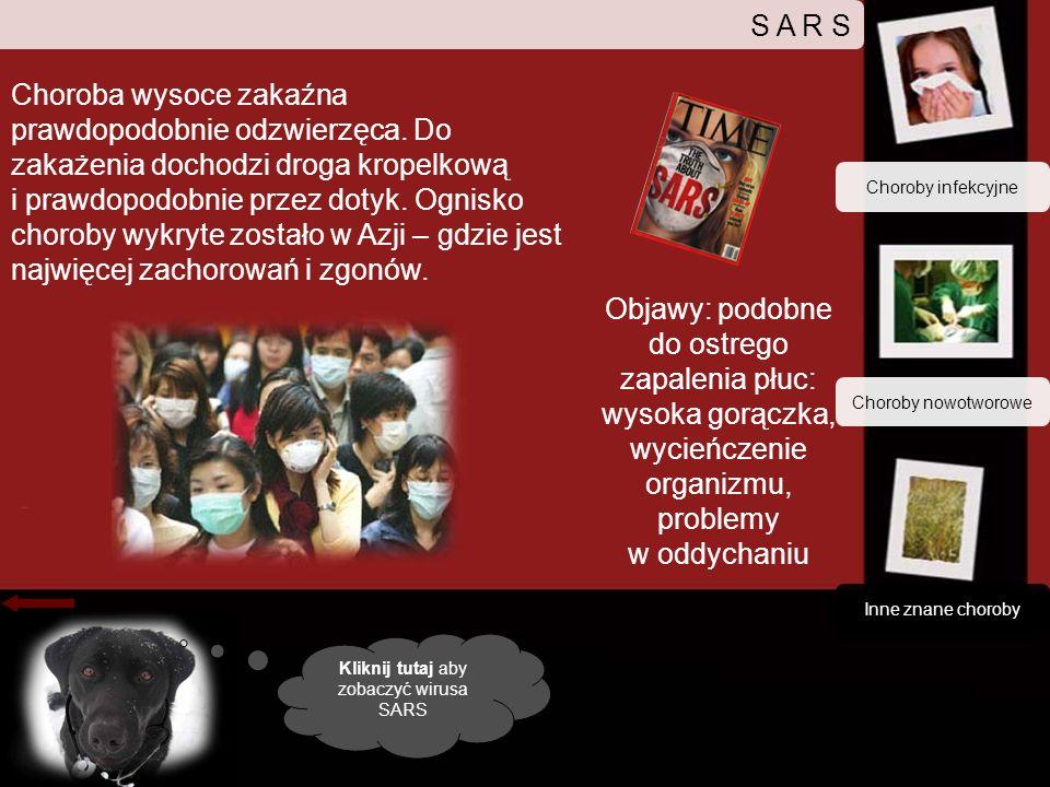 Kliknij tutaj aby zobaczyć wirusa SARS