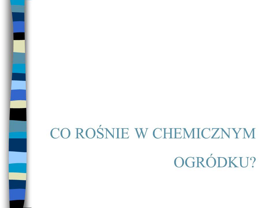 CO ROŚNIE W CHEMICZNYM OGRÓDKU