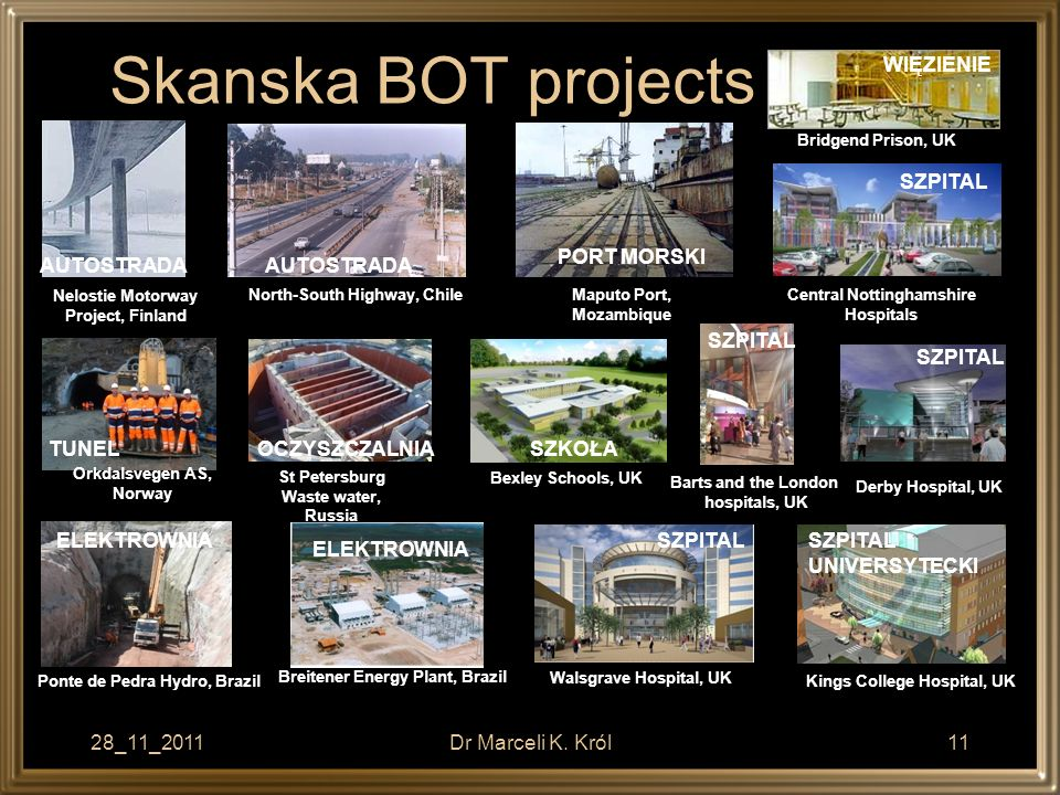 Skanska BOT projects WIĘZIENIE SZPITAL PORT MORSKI AUTOSTRADA