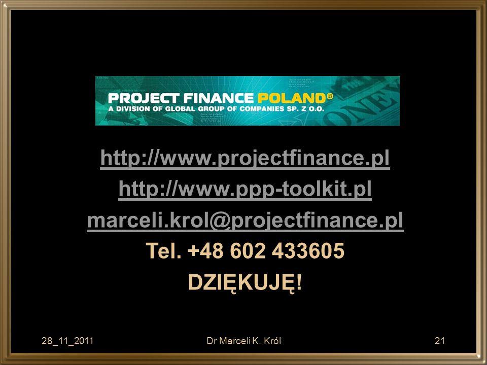 http://www.projectfinance.pl http://www.ppp-toolkit.pl