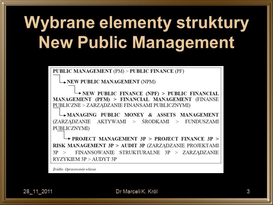 Wybrane elementy struktury New Public Management