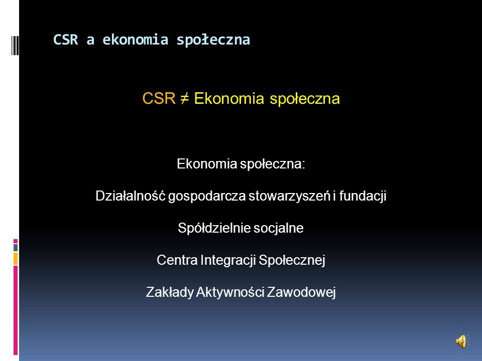 CSR a ekonomia społeczna