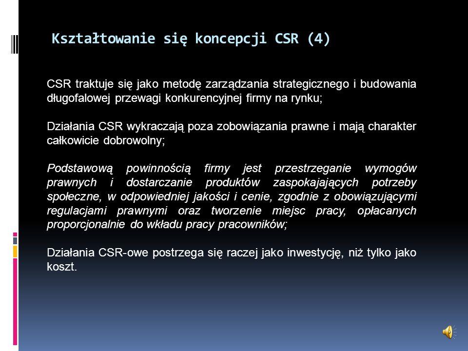 Kształtowanie się koncepcji CSR (4)
