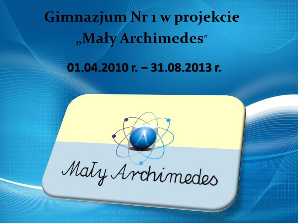 """Gimnazjum Nr 1 w projekcie """"Mały Archimedes"""