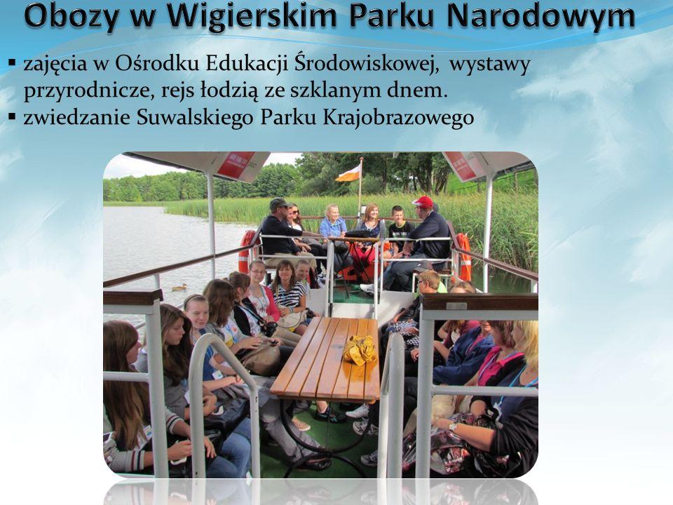 Obozy w Wigierskim Parku Narodowym