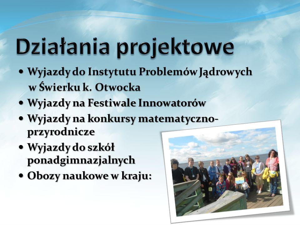 Działania projektowe Wyjazdy do Instytutu Problemów Jądrowych