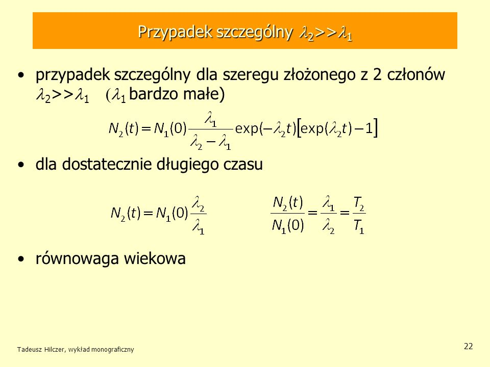 Przypadek szczególny l2>>l1