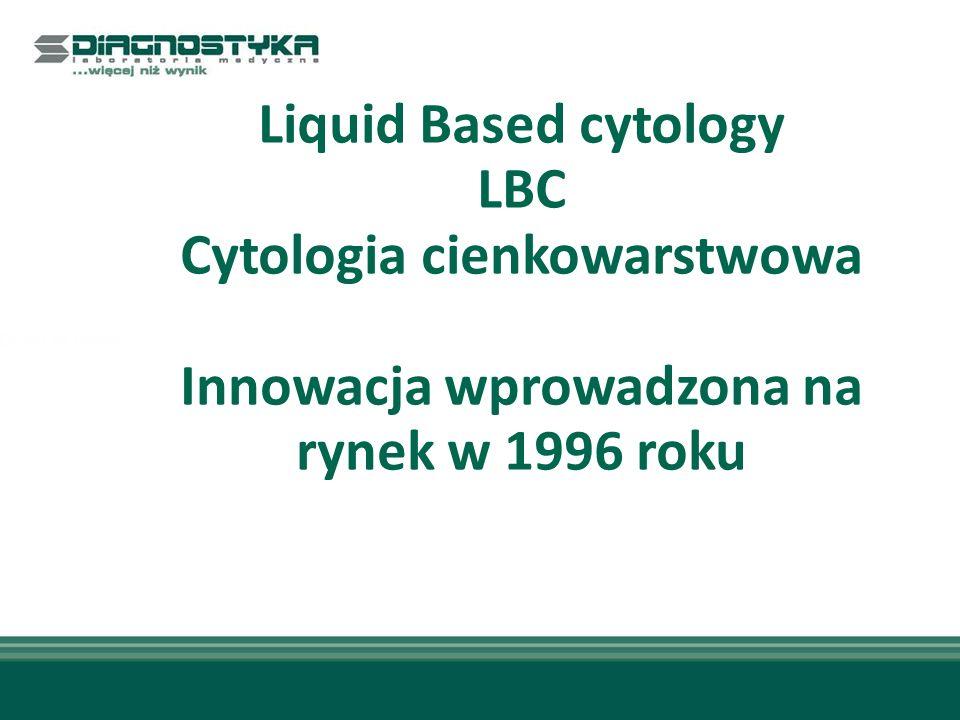 Cytologia cienkowarstwowa Innowacja wprowadzona na rynek w 1996 roku